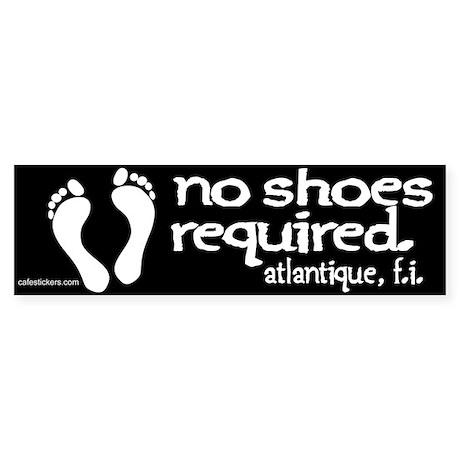 "No Shoes Required ""Atlantique"" Sticker"
