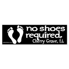 "No Shoes Required ""Cherry Grove"" Bumper Sticker"