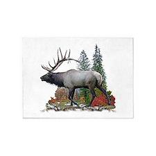 Bull elk 5'x7'Area Rug