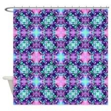 Plum Shower Curtain Set Tropical Fish Fabric Shower