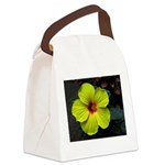 .yellow hibiscus. Canvas Lunch Bag