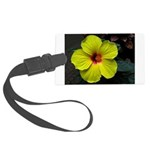 .yellow hibiscus. Large Luggage Tag