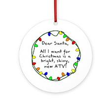 Dear Santa ATV Christmas Ornament