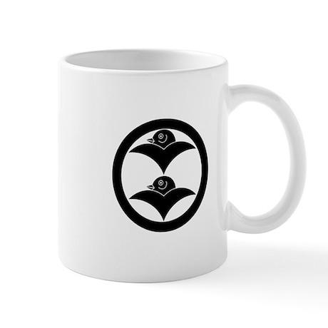 Two wild geese in circle Mug