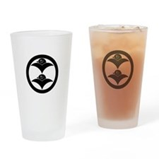 Two wild geese in circle Drinking Glass