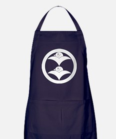 Two wild geese in circle Apron (dark)