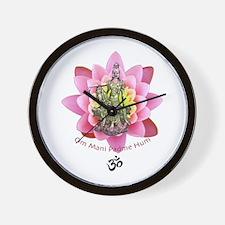 Kuan Yin Mantra Wall Clock