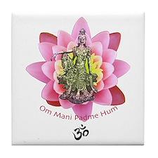 Kuan Yin Mantra Tile Coaster
