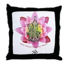 Kuan Yin Mantra Throw Pillow