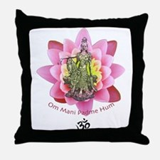 Kuan Yin Mantra Throw Pillow