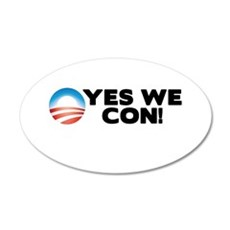 Yes We Con! 20x12 Oval Wall Decal