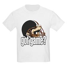 Got Game? Black Football Helmet Kids T-Shirt