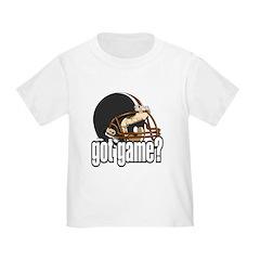 Got Game? Black Football Helmet T