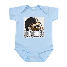 Got Game? Black Football Helmet Infant Creeper