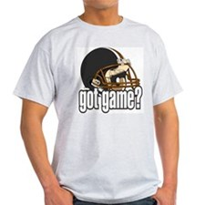 Got Game? Black Football Helmet Ash Grey T-Shirt
