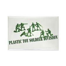 Plastic Toy Soldier Division Rectangle Magnet