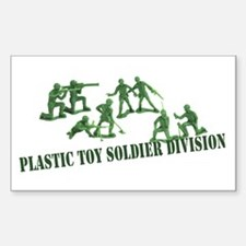 Plastic Toy Soldier Division Rectangle Decal
