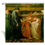 Dantes Dream by Rossetti Shower Curtain