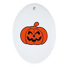 Pumpkin face halloween Ornament (Oval)