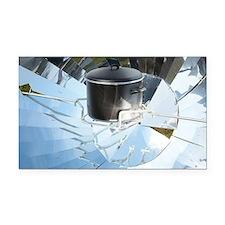 Parabolic solar cooker - Car Magnet