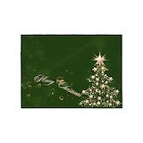 Christmas green 5x7 Rugs