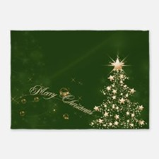 Green Golden Christmas 5'x7'Area Rug
