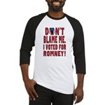 Don't Blame Me Anti-Obama Baseball Jersey