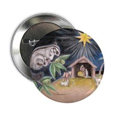 "At the Manger 2.25"" Button"