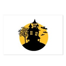 Scary ghost house Postcards (Package of 8)