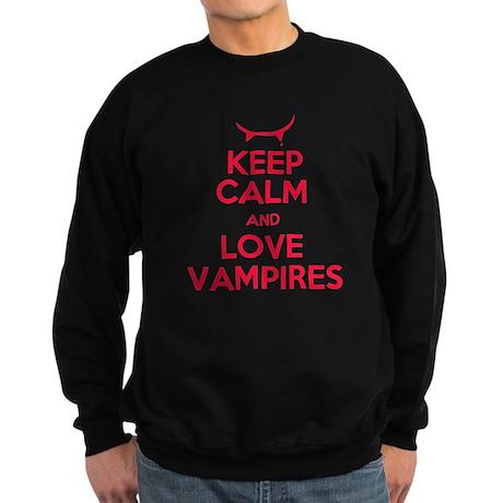 Keep Calm and Love Vampires Sweatshirt (dark)