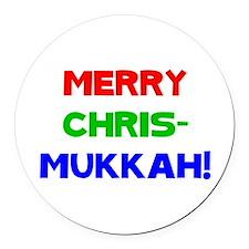 Merry Chrismukkah Round Car Magnet