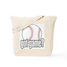 Got Game? Baseball Tote Bag