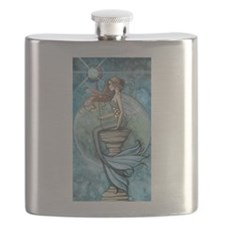 Jade Moon Mermaid Fantasy Art Flask
