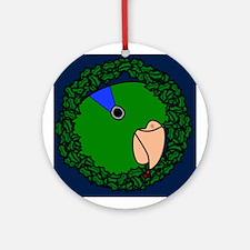 Green Parrotlet Wreath Christmas Ornament