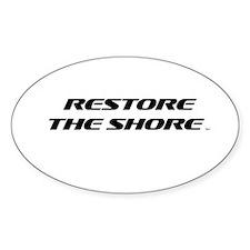 Restore The Shore TM Logo Sticker