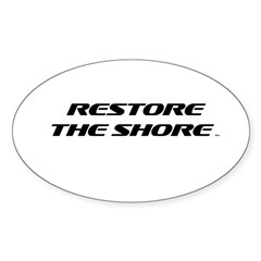 Restore The Shore TM Logo Sticker