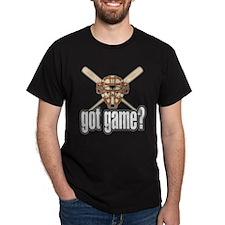 Got Game? Baseball Bats Black T-Shirt