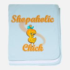 Shopaholic Chick #2 baby blanket