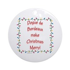 Dogue Merry Ornament (Round)