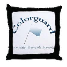 Colorguard: Friendship Teamwork Memories Throw Pil