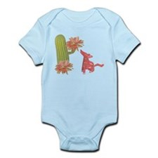 CACTUS FLOWER AND COYOTE Onesie