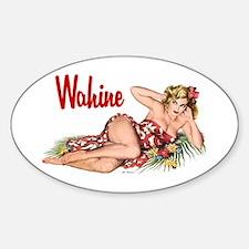 Wahine Oval Decal