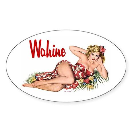 Wahine Oval Sticker