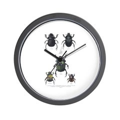 Beetle Insects Wall Clock