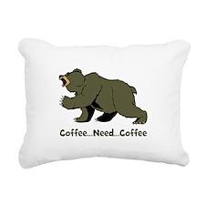 Need Coffee Rectangular Canvas Pillow