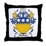 Latham Coat of Arms Throw Pillow