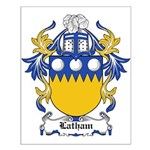 Latham Coat of Arms Small Poster