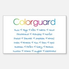 Colorguard Sticker (Rectangle)