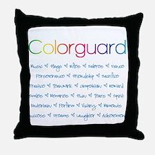 Colorguard Throw Pillow