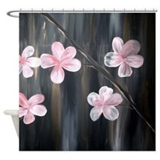Modern Cherry Blossom Shower Curtain